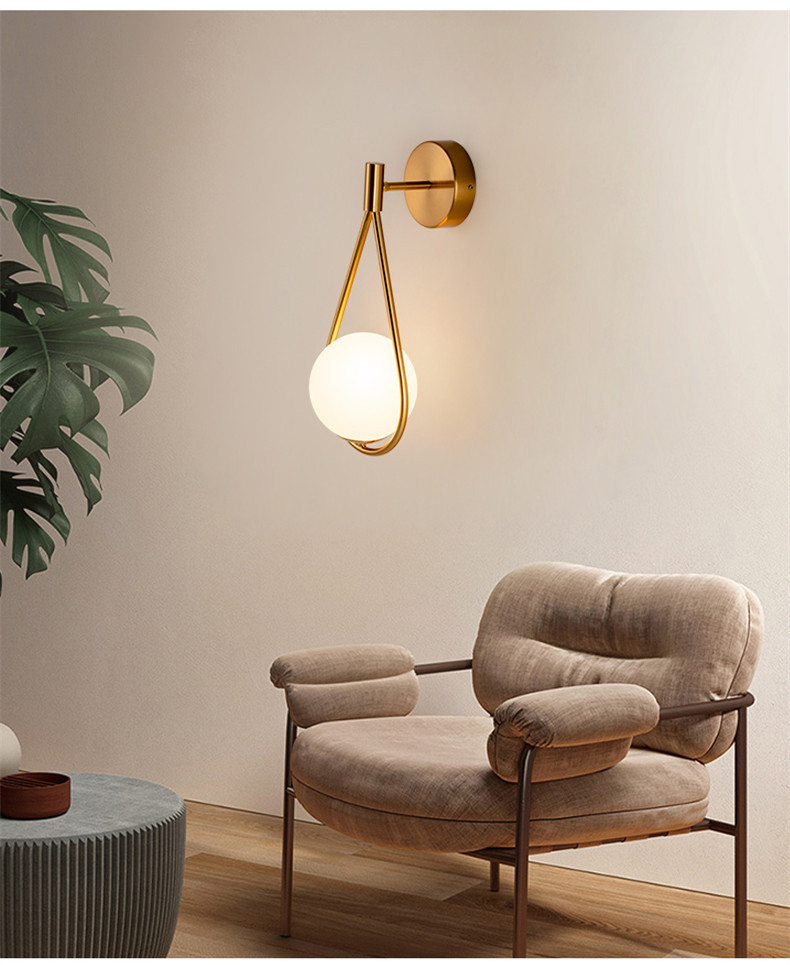 Luminária de parede em led minimalista, estilo