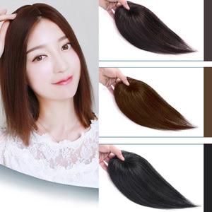XG доступны в 2 длины Топпер зажим для парика клип в один кусок наращивание волос синтетические волосы с челкой для женщин 3 цвета