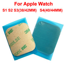2 unids/lote pantalla LCD pegatina adhesiva impermeable para Apple Watch serie 1, 2, 3, 4, 42mm, 38mm 40mm 44mm lcd etiqueta engomada(China)