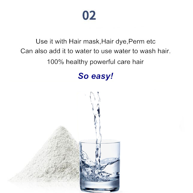 SowSmile 100% Keratin Collagen Silk Natural Moisturizing Repair Hair Scalp Care Vitamins Treatment Perfect Mix Serum Powder 3