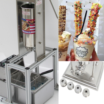 цена на Free Shipping 5L Manual Spanish Donut Churros Machine With 6L Deep Fryer