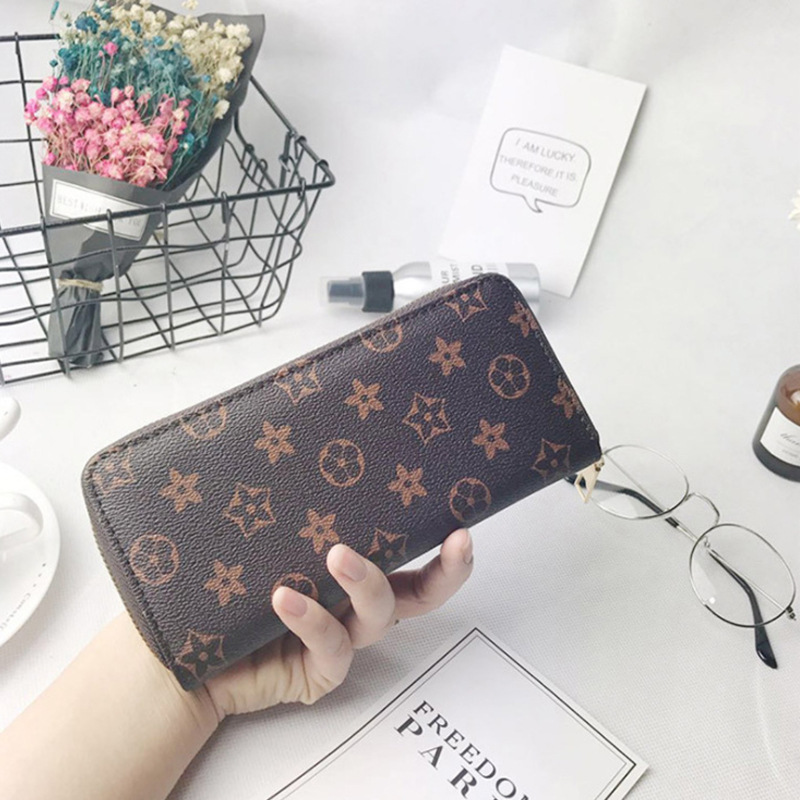 Printing Pattern Wallet Women Mobile Phone Bag  Female Card PU Leather Long Women Wallets  Purses Ladies Slim Card Holder Purse