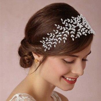 Bijoux pour cheveux de mariée en zircon