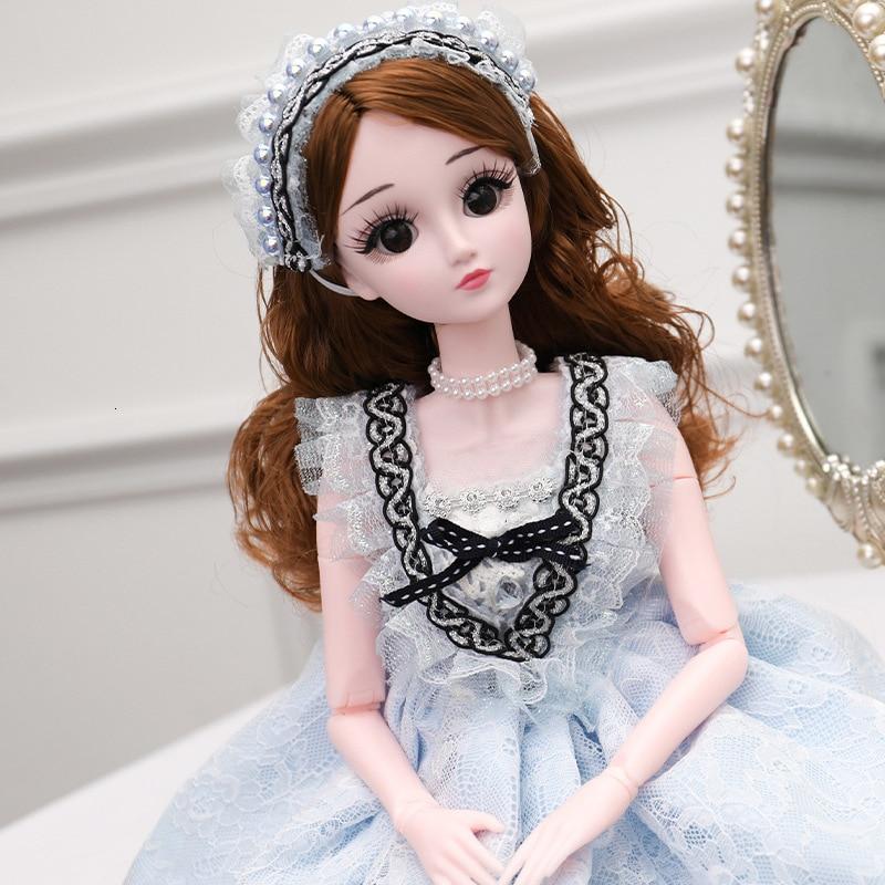 60cm Lifelike Fashion Girl Dolls Large Original Handmade Bjd 1/3 Doll Full Set 20 Jointed Doll Girls Toys For Children Kids Gift
