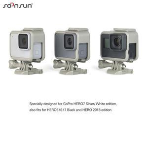 Image 5 - SOONSUN Standard Frame Mount Protective Housing Case for GoPro Hero 5 6 7 Black for Go Pro HERO7 White Silver Action Camera