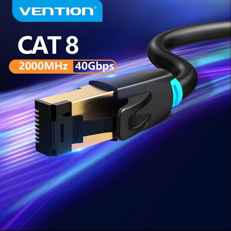 Vention Cat8 Ethernet кабель RJ45 SSTP патч-кабель 40 Гбит/с RJ 45 Lan кабель для компьютера ноутбука роутер модем ПК Cat7 Ethernet кабель