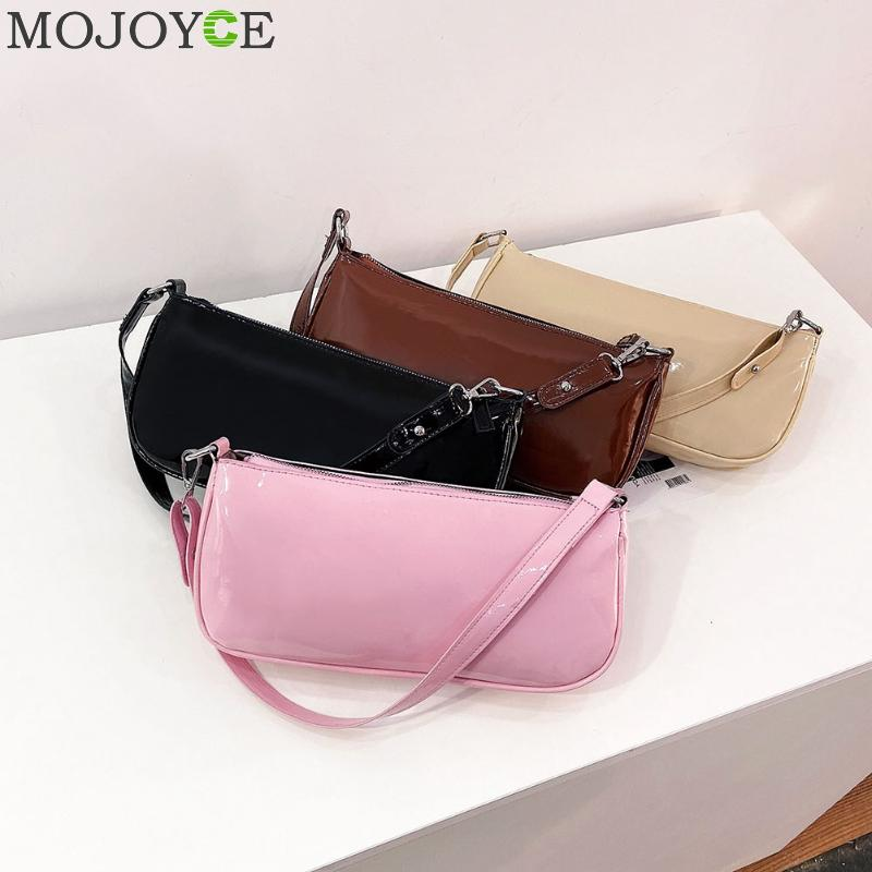 Elegant Women PU Leather Shopping Shoulder Handbags Solid Candy Color Simple Top-handle Totes Bags For Female Purse