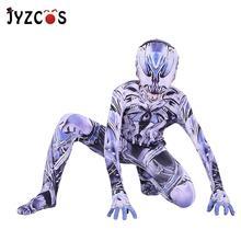 купить JYZCOS Spider-Man Black Venom Cosplay Costume Kids Adult Superhero Lycra Spiderman Hero Zentai Halloween Costume With Mask дешево