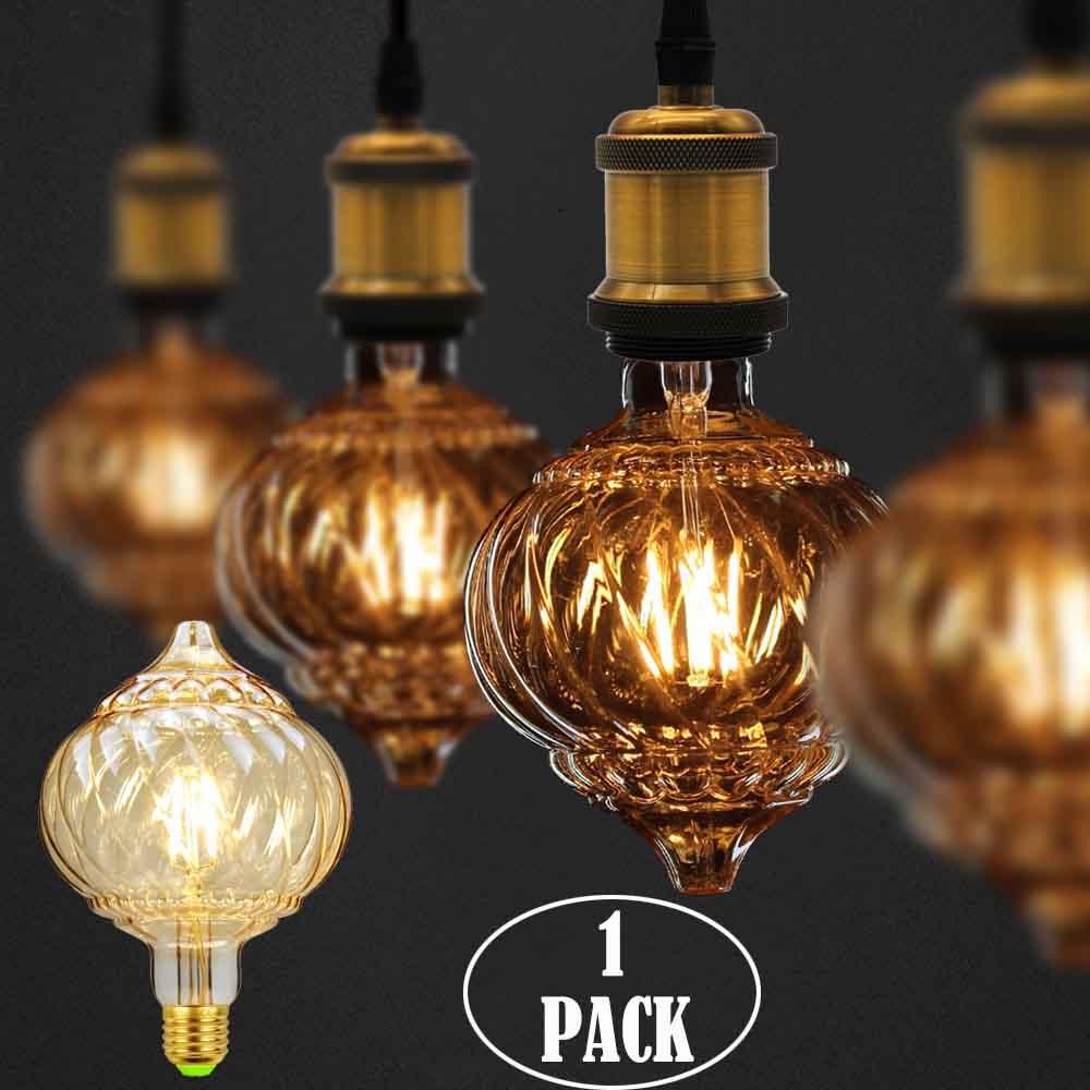 G125 Pumpkin Edison Bulb LED E27 Twist Cone Straight Led Filament 220V 4W Decor Bulb Vintage Light Bulb Antique Bulb Lamp