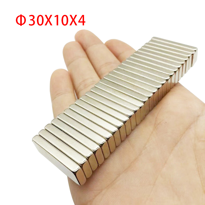 Neodymowa tabliczka magnetyczna 30x10x4mm Samll magnesy prostokątne Super silny mocny permanentny magnesy ziem rzadkich Imanes pasek magnetyczny
