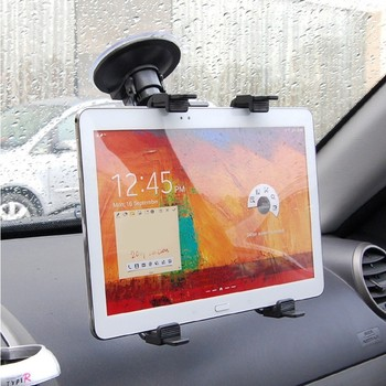цена на Suction cup Tablet PC stand bracket Clip for 7~12 inch Screen, universal bracket clip car holder with 360 degree turning