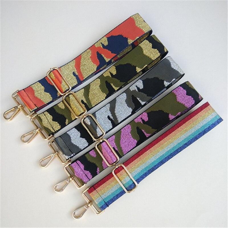 2020 Replacement Belt Adjustable Contrast 5cm Wide Bag Strap Bag Belt Shoulder Strap Stress Reliever Women Fashion Bag Handle