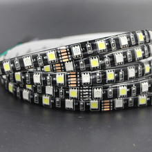 12V LED Strip car Light RGB RGBW 5050 SMD 60LEDs/M Black PCB Flexible Waterproof LED Tape lamp For TV Background Decoration(China)