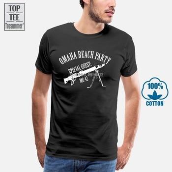 Mg42 Omaha Beach Party T Shirt For Men T-Shirt Summer Men Top Summer Men'S T-Shirt Cotton T-Shirts Vintage T Shirt Black Tshirt t shirts shorts summer brand tshirt men letter printed sportsuit set t shirt suit male famous brand men top men shirt 5xl