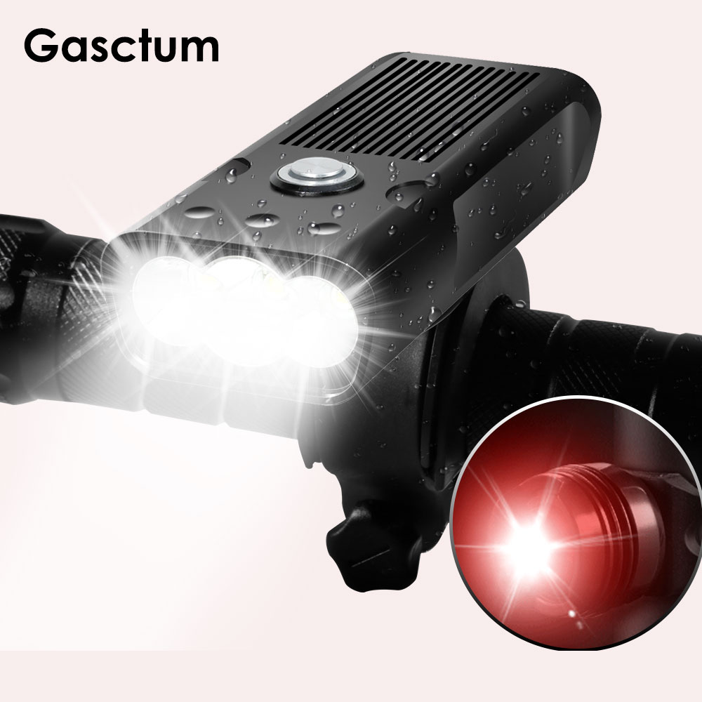 2000Lums Bicycle Light L2/T6 USB Rechargeable 5200mAh Bike Light Waterproof LED Headlight Power Bank With Taillight Accessories