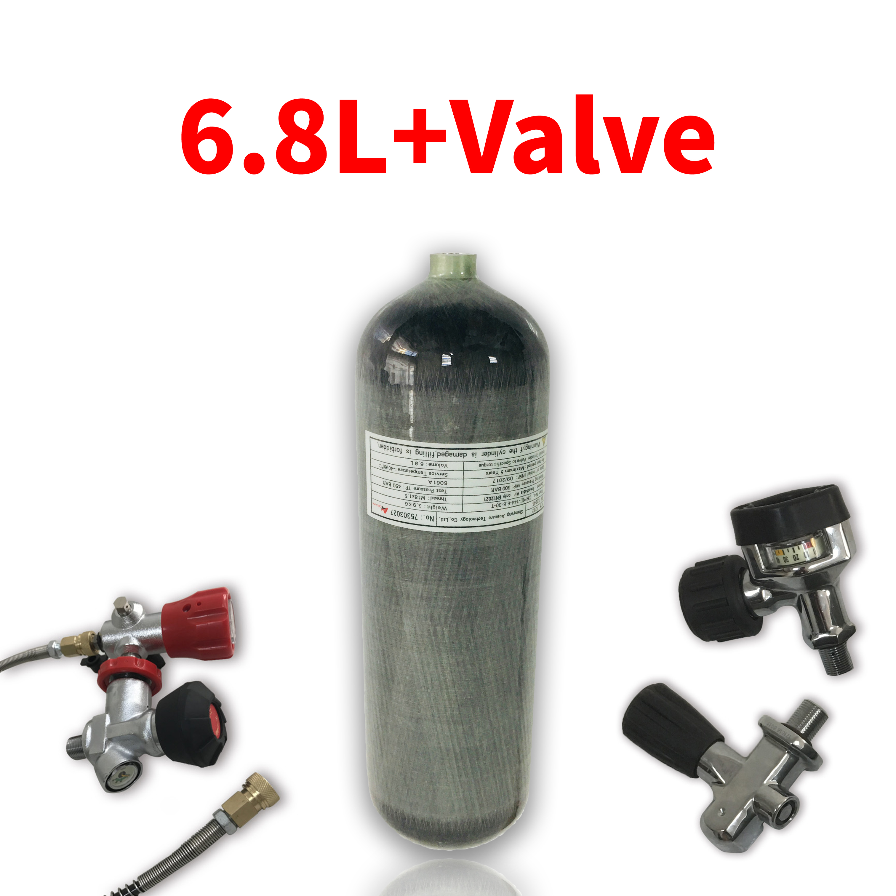 AC168 Acecare 6.8L CE PCP Carbon Fiber Cylinder For Diving HPA Compressed Air Tank/Airforce Condor/Air Rifle/Airgun For Hunting