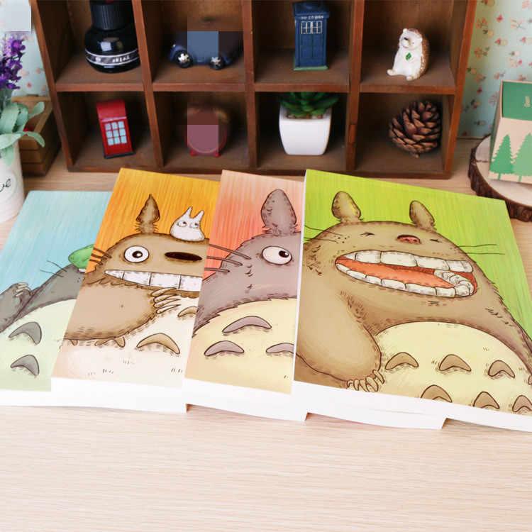 4 色セーラームーンさくらかわいいトトロアニメアクションフィギュア紙ユニセックス 16 18k スケッチブック描画絵画帳ノートブック