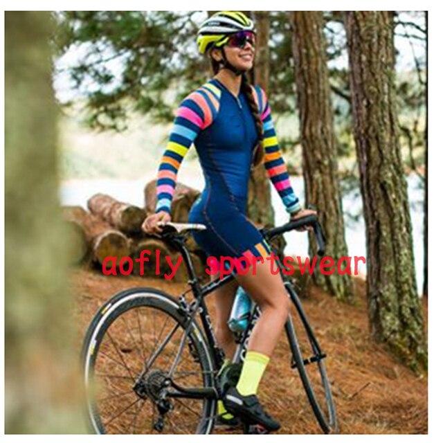 20 cores das mulheres longo mangas compridas skinssuit go pro equipe de ciclismo macacão pro equipe irmã triathlon roadbike mtb roupas verão macaquinho ciclismo feminino manga longa roupas com frete gratis macacao 3