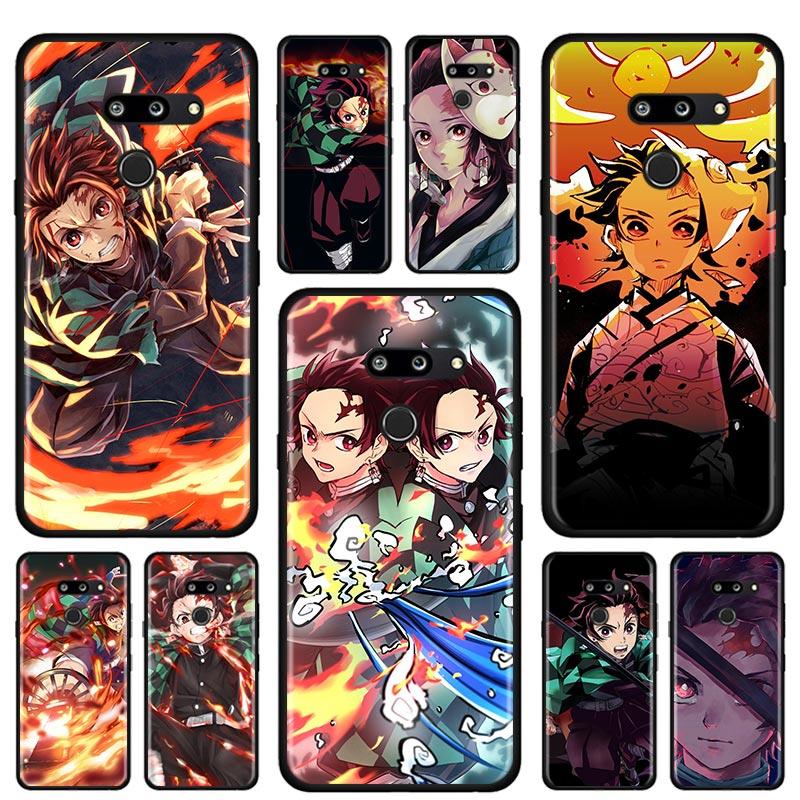 Anime Demon Slayer Silicone Soft Case For LG K40 K40s K41s K50s K51s K61 G6 G7 G8 Q51 Q60 Q61 Q70 Cover Case