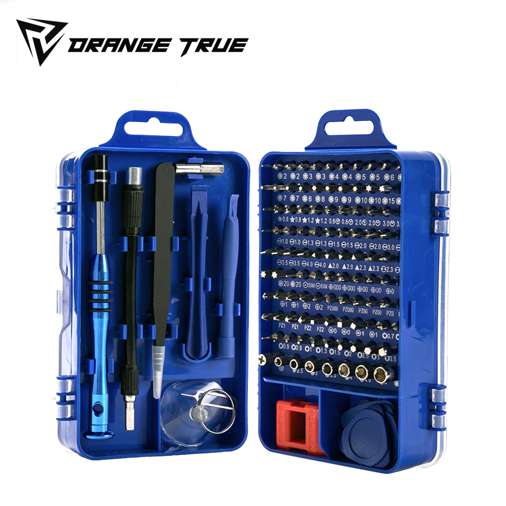 115 In 1 Mini Screwdriver Set of Screw Driver Bit Set Precision Set For Laptops Phone Watch Tablet Electronic Device Hand Tool(China)