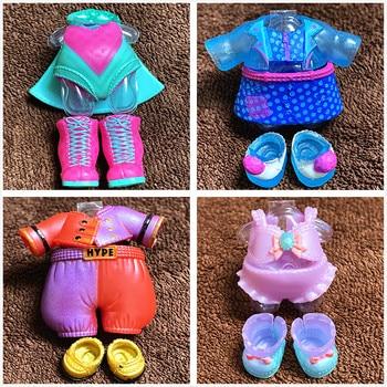 Л. О. Л. Сюрприз! Новый стиль, Оригинальная одежда, обувь, набор для LOL 8 см, куклы Big Sister, платья, ботинки для куклы, детский подарок на день рождения