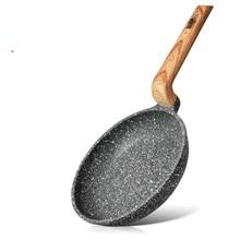 14cm Mini Braten Pfannen Nicht-stick Marmor Beschichtung Aluminium CD Bottom BILLA Serie Herd Bratpfannen