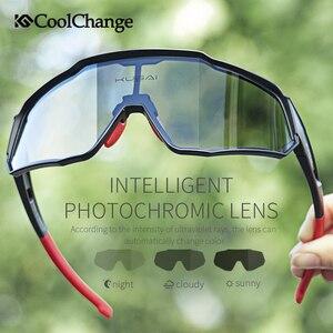 Image 2 - CoolChange Photochromic רכיבה על אופניים משקפיים ריצה חיצוני ספורט MTB אופני משקפי שמש UV400 גברים נשים כביש אופניים משקפי Eyewear