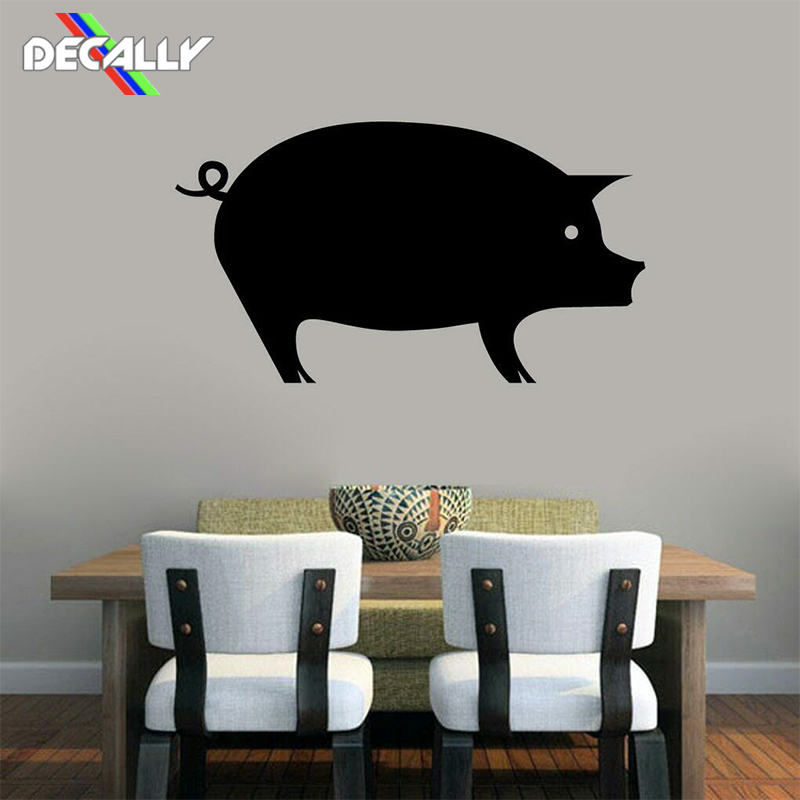 1 Pcs Wall Sticker Cute Pig Wall Decal Animal Farmhouse Dining Room Kitchen Wall Sticker Decor Kitchen Decoration image
