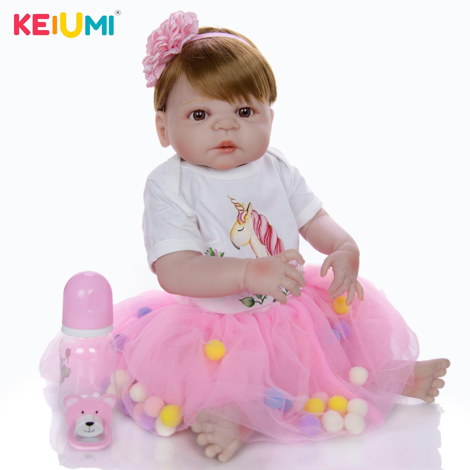 Moda 23 57 57 57 cm reborn bebê menina brinquedos de silicone corpo inteiro vinil linda princesa menina boneca reborn boneca presentes do dia das crianças
