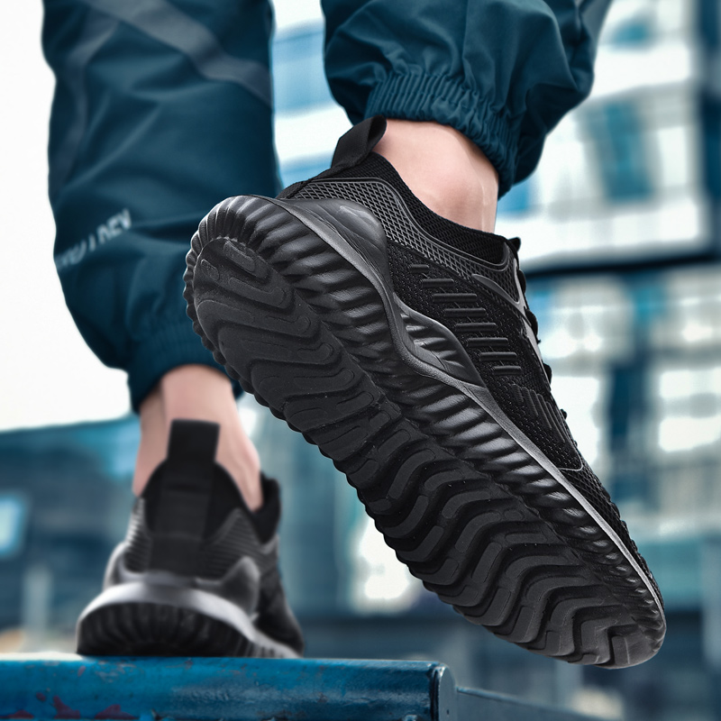 Sport Outdoor Running Shoes For Men Sneakers Black Lightweight Lace-up Casual Men Shoes Mesh Comfortable Breathable Krossovky
