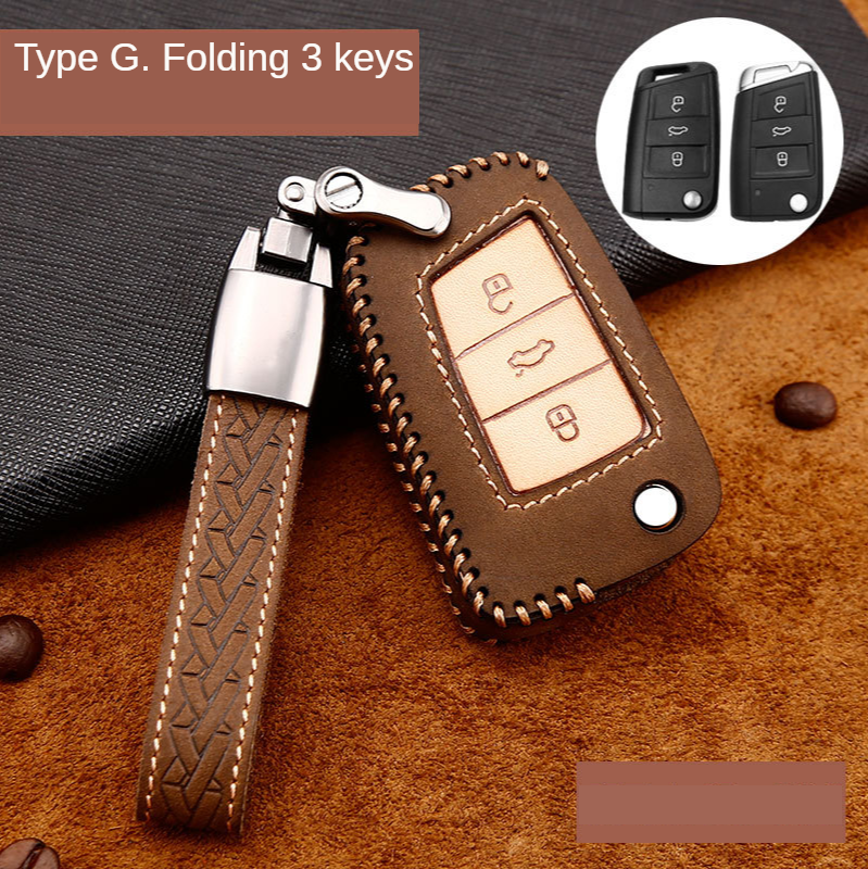 Car Key Case Holder Shell For Skoda Octavia A5 Kodiaq Yeti Rapid For VW B8 Passat T-ROC Golf 7 Touran Sportagen Tiguan Passat