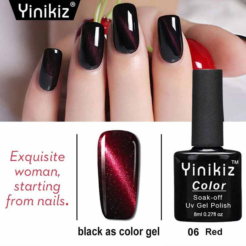 Fashion Red Magic Cat Eye Top Coat Nagellak Set Manicure 8 Ml Semi Permanant Uv Led Nail Art Prime gel Vernis Nagellak #06