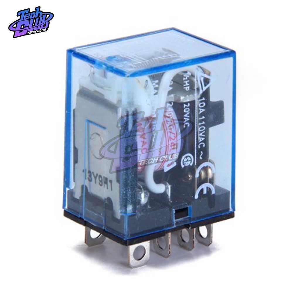 Algemene Purpose LY2NJ Elektronische Micro Elektromagnetische Relais Led Lamp 10A 8 Pins Coil Dpdt DC12V 24V Ac 220V