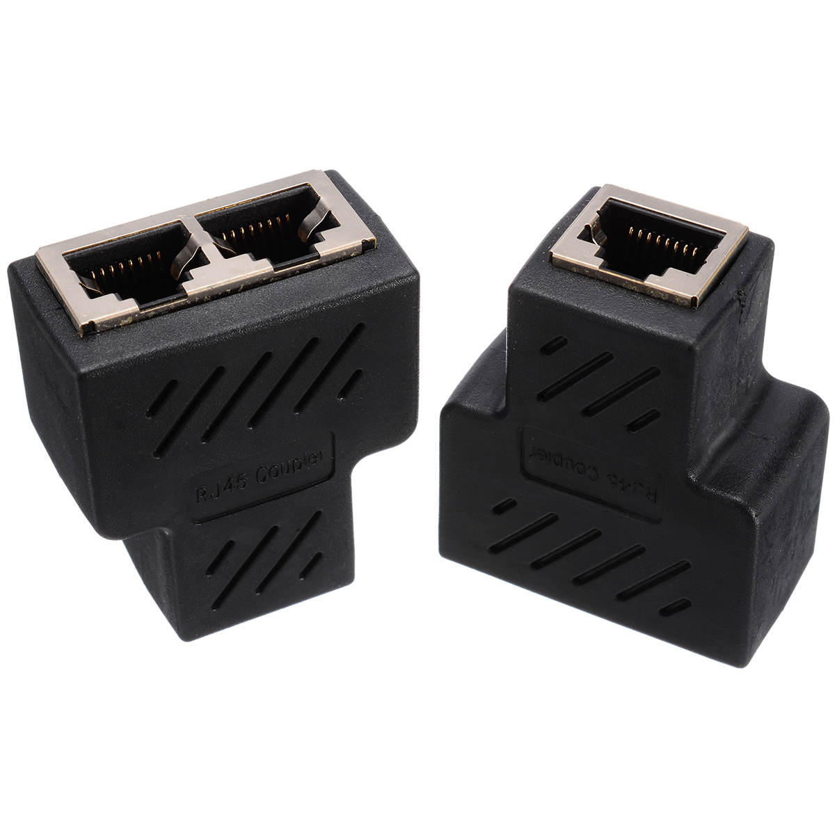 Image 4 - 1 Pair RJ45 Female Splitter Adapter RJ45 Coupler Female Connector 1 To 2 Female LAN Ethernet Network Coupler Port Extender-in Computer Cables & Connectors from Computer & Office