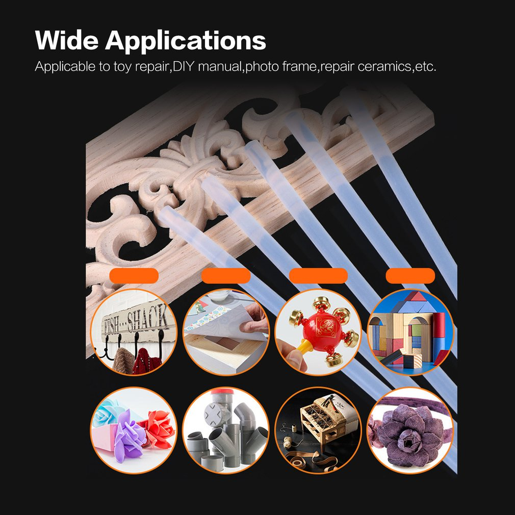 10Pcs/Lot 7mm X 190mm Hot Melt Glue Sticks Electric Glue Gun Craft Album Repair Tools For DIY Manual Toy Repair