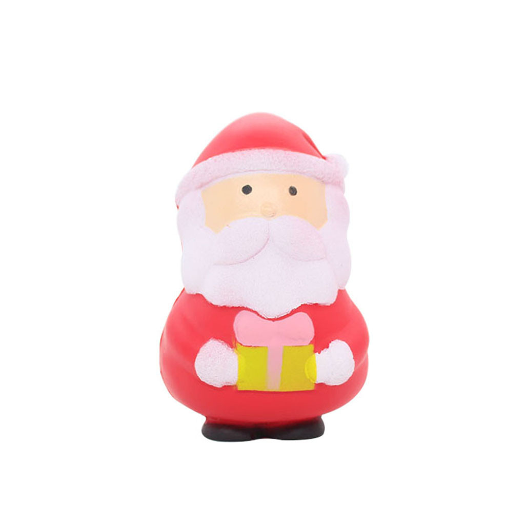 Slow Rising Antistress Santa Claus Toy Cartoon Decoration Doll Stretchy Healing Toys Soft Elastic Toy Children's Home Decoration