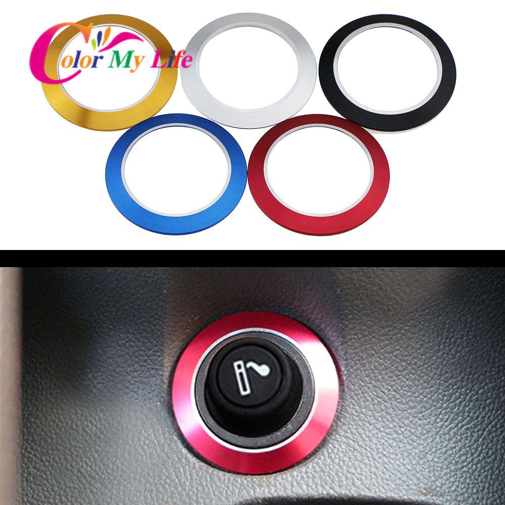 Car Cigarette Lighter Decoration Circle Trim Sticker For Chevrolet Chevy Cruze Sedan Hatchback Malibu 2009 - 2015 Accessories