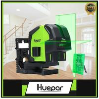 Huepar Cross Line Laser Level with 2 Plumb Dots Professional Green Self Leveling