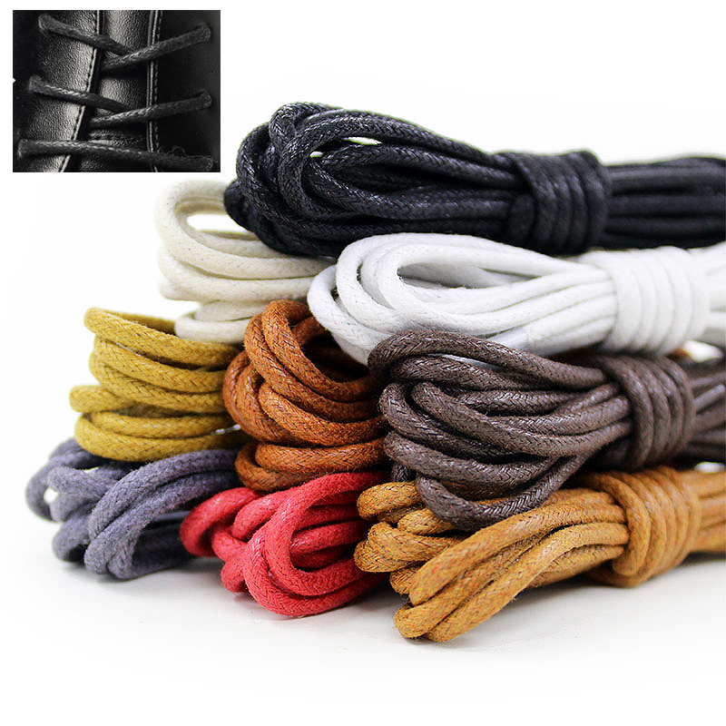Colorful Leather Boot Laces Shoelace Unisex Men Women Multiple Lengths Available