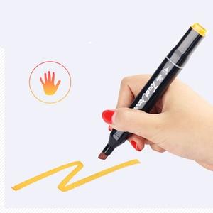 Image 3 - סקיצה מרקר עט סט Twin סמני עט מברשת ציור מנגה ארכיטקטורת עיצוב אספקת אמנות