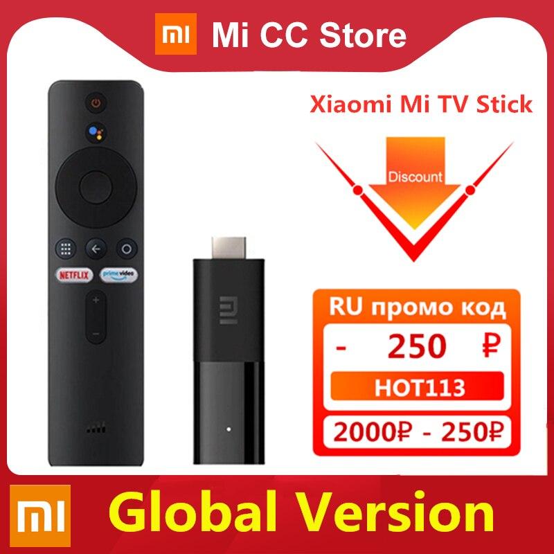 Versão global xiaomi mi tv vara android tv 9.0 smart 2k hdr 1gb ram 8gb rom bluetooth 4.2 mini tv...