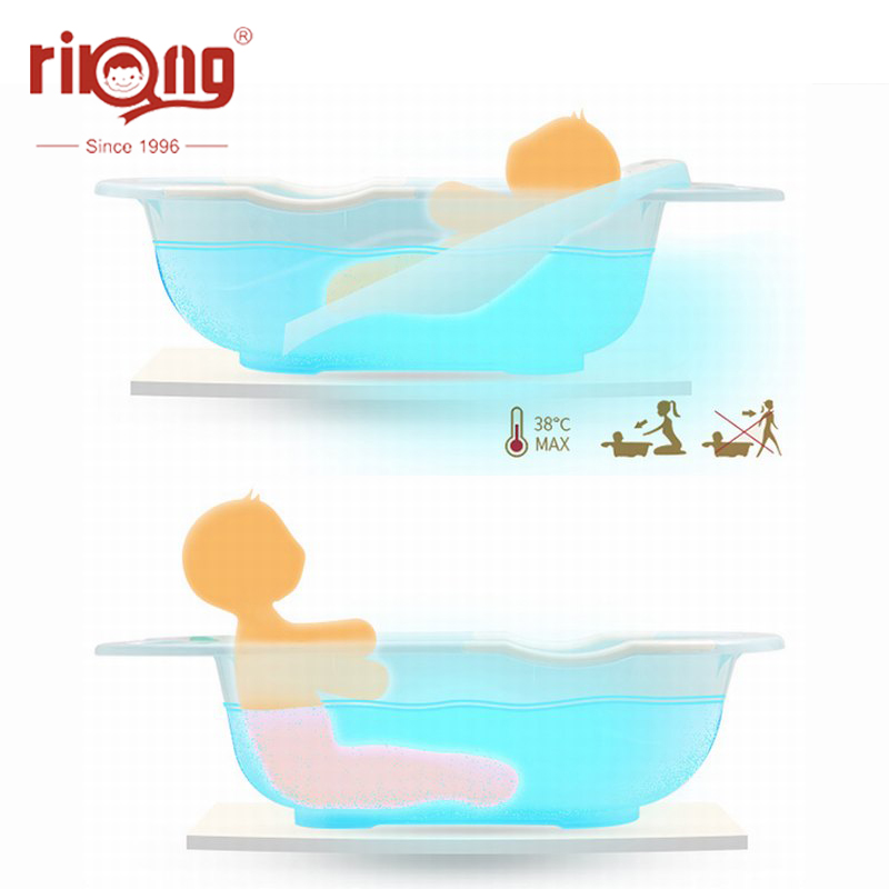 Rikang Bathtub Children Temperature Universal Bath Barrel with Deck Oversize Baby Newborn Supplies Baby Bath Tub