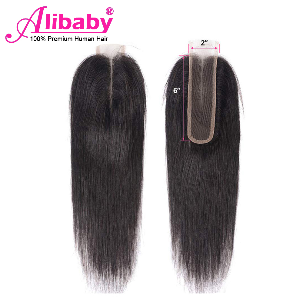 Kim K Closure 2x6 Human Hair Lace Closure With Baby Hair Middle Part Deep Hairline Brazilian Straight Hair Closure Swiss Lace