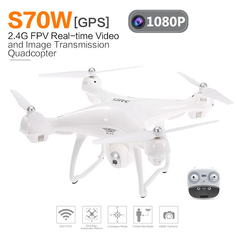 Clearance SJRC S70W RC Dron Drone GPS Quadcopter Helicopter With HD 1080P 720P Camera Drone Double GPS Module image