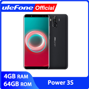 """Image 1 - Ulefone Power 3S 6.0"""" 18:9 FHD+ Android Mobile Phone MTK6763 Octa Core 4GB+64GB 16MP 4 Camera 6350mAh Face ID 4G Smartphone"""
