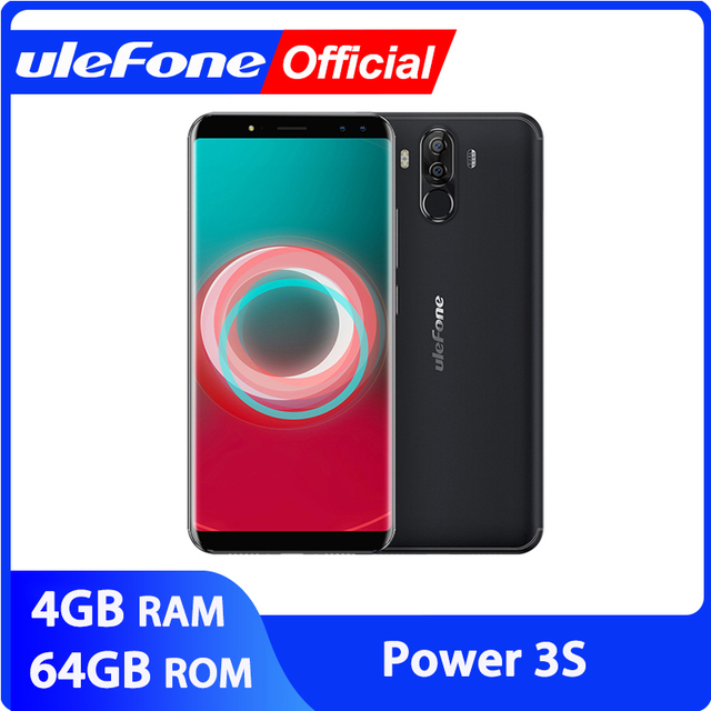 """Ulefone Power 3S 6.0"""" 18:9 FHD+ Android Mobile Phone MTK6763 Octa Core 4GB+64GB 16MP 4 Camera 6350mAh Face ID 4G Smartphone"""