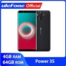 "Ulefone güç 3S 6.0 ""18:9 FHD + Android cep telefonu MTK6763 Octa çekirdek 4GB + 64GB 16MP 4 kamera 6350mAh yüz kimlik 4G Smartphone"