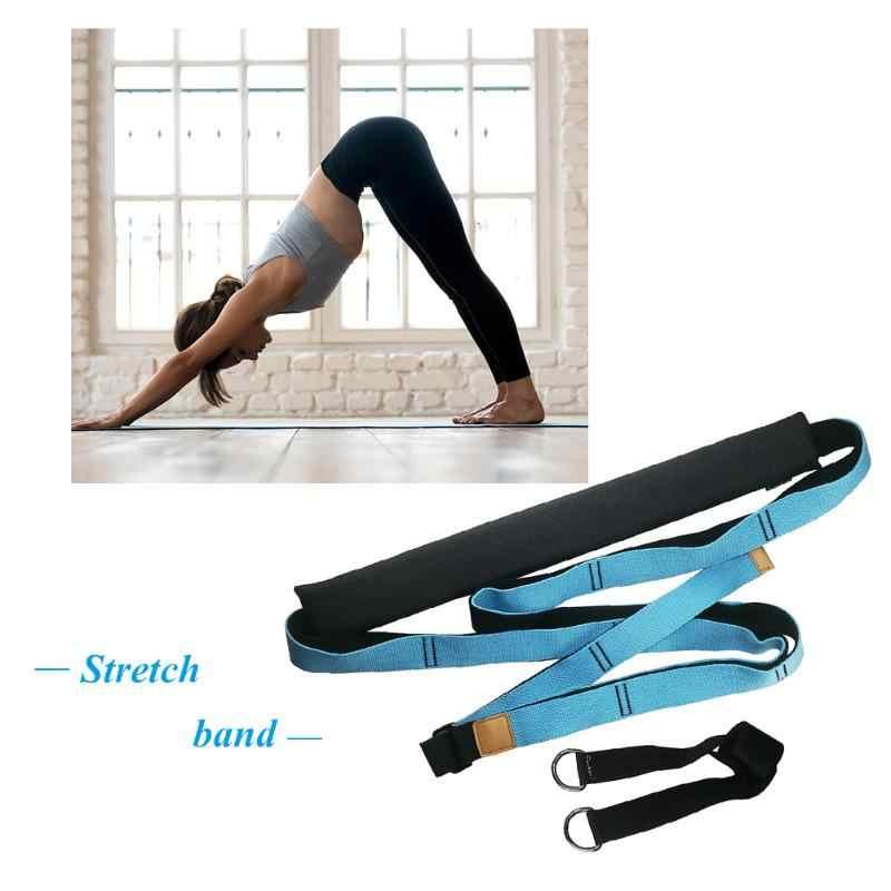 מתכוונן יוגה בלט ספורט למשוך רצועת רב תפקודי להגדיל רגליים חוזק כושר חגורת גמישות רגלי אימון למתוח