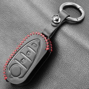 Image 5 - 3 Buttons Genuine Leather Flip Auto Key Case Fob Cover For Alfa Romeo Mito Giulietta 159 Gta Folding Keys keychain