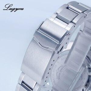 Image 5 - Lugyou سان مارتن 62Mas ساعة غواص للرجال التلقائي الميكانيكية الفولاذ المقاوم للصدأ الياقوت الدورية الحافة 20ATM سوار معدني SLN